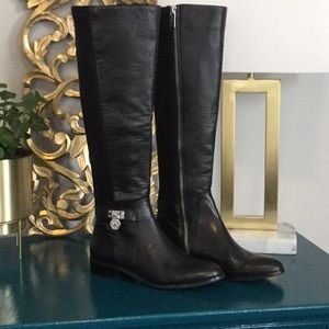 Michael KORS black leather knee high boots size 5